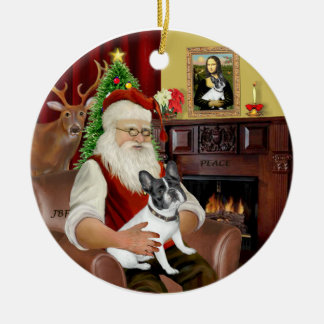 Santa-French BD (BW14) Christmas Ornament