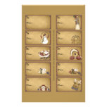 Santa & Friends Gift Tags on a Sheet - 10 Designs 14 Cm X 21.5 Cm Flyer