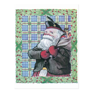 Santa from Scotland Postcard