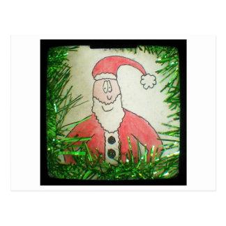 Santa Funny Christmas Drawing Post Cards