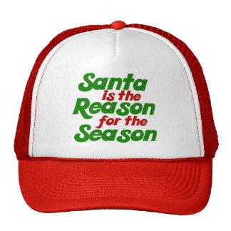 Santa funny christmas humor parody cap