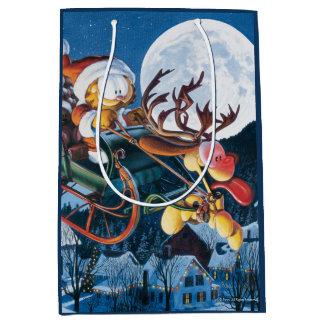 Santa Garfield and Rudolph Odie Medium Gift Bag