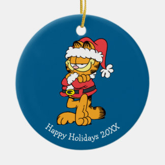 Santa Garfield Christmas Ornament