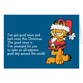 Santa Garfield Note Card