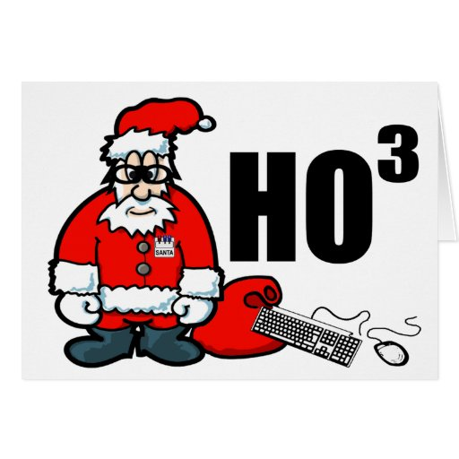 Santa Geek Greeting Cards