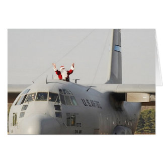 Santa Gets Some Help From a C-130 Card