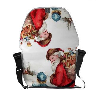 Santa Getting Directions Messenger Bags