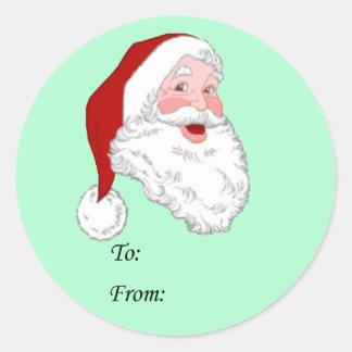 Santa Gift Stickers