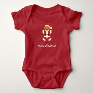 Santa Gingerbread Man | Baby Bodysuit