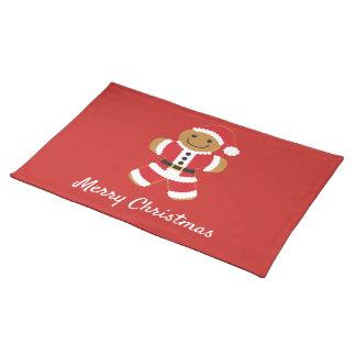 Santa Gingerbread Man | Cloth Placemat