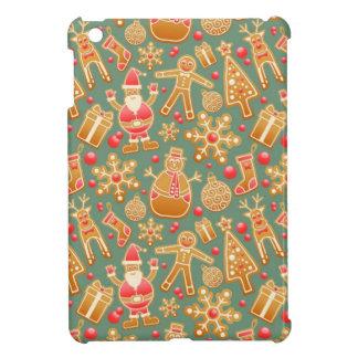 Santa Gingerbread Pattern iPad Mini Covers