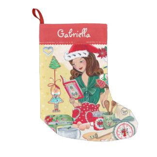 Santa Girl Vintage Kitchen | Cristmas Stocking