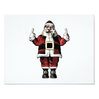 Santa Giving the Finger Card