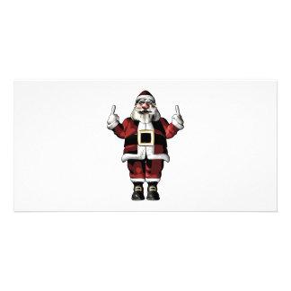 Santa Giving the Finger Card