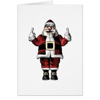 Santa Giving the Finger Greeting Card