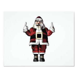 Santa Giving the Finger Invitations