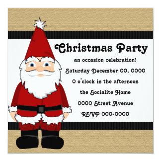 Santa Gnome 13 Cm X 13 Cm Square Invitation Card