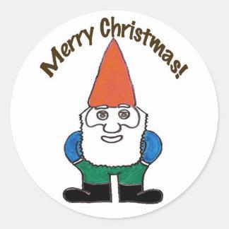 Santa Gnome Merry Christmas Sticker