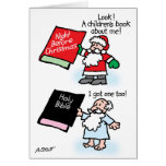 Santa & God children's books Cards