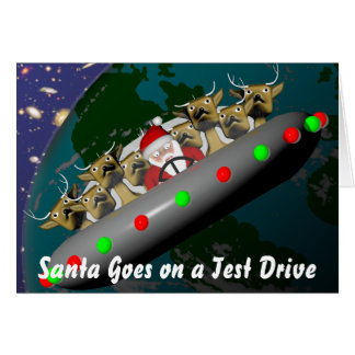 Santa Goes on a Test Drive Card