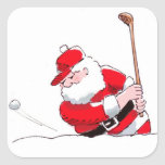 Santa Golf sticker