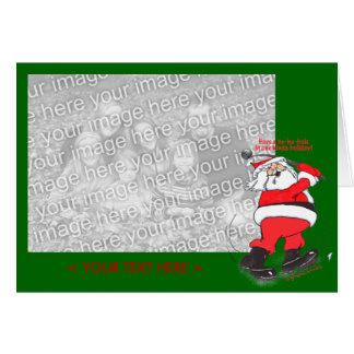 Santa Golfing Christmas Card Template