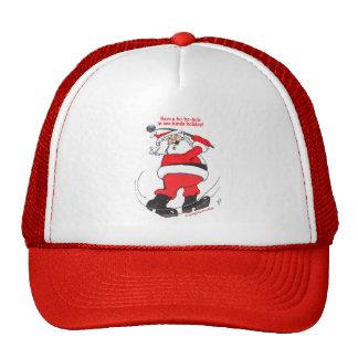 Santa golfing Christmas gifts. Cap