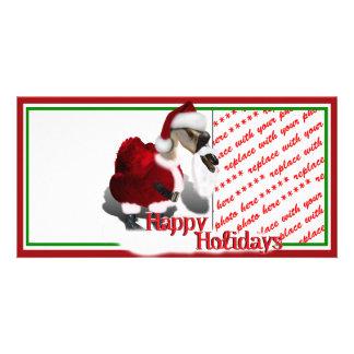 Santa Goose Personalized Photo Card