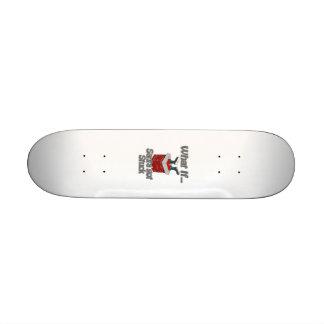 Santa got stuck skate boards