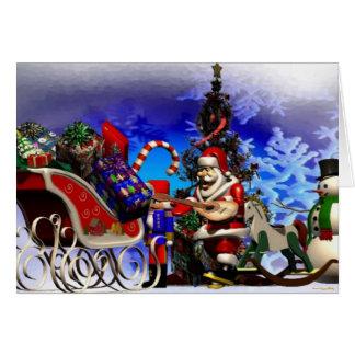 Santa Greetings Card
