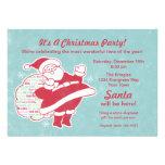 Santa Greetings Christmas Party Invitation