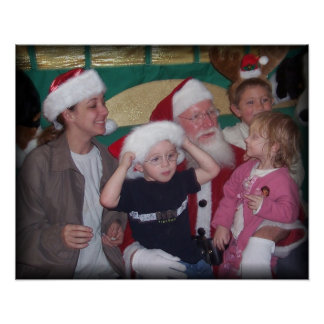 santa group with mom poster
