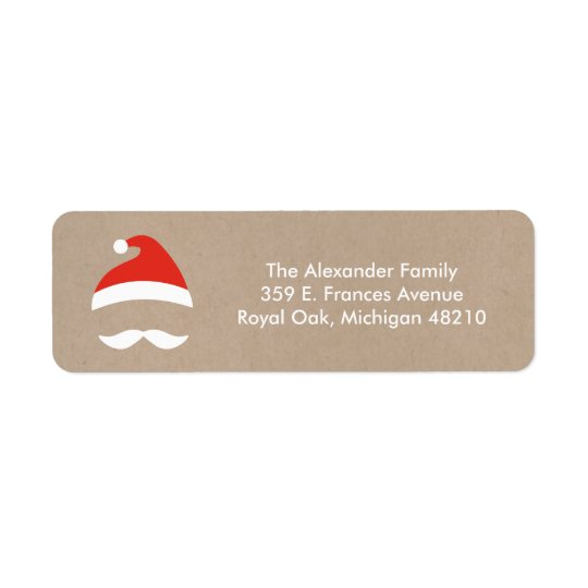 Santa Guy Return Address Labels