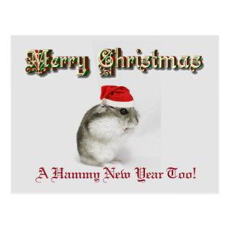 Santa Hamster Postcard