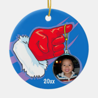 Santa Hand Photo Frame Keepsake Ornament