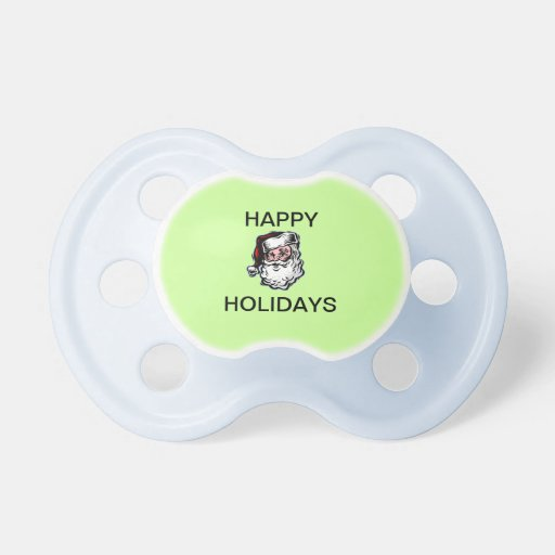 Santa Happy Holidays Baby Pacifier
