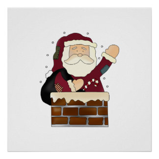 Santa Happy Holidays Poster