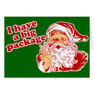 Santa Has A Big Package Card