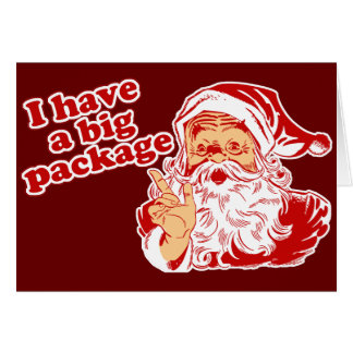 Santa Has A Big Package Greeting Card