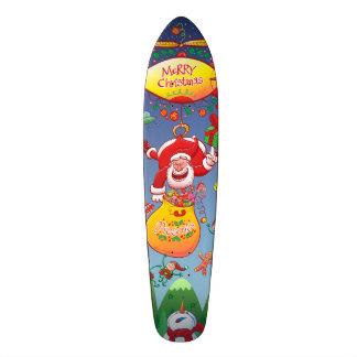 Santa has a Zeppelin to Deliver Christmas Gifts 20 Cm Skateboard Deck