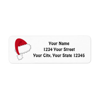 Santa Hat Address Label #HolidayZ