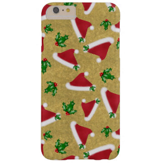 Santa Hat and Holly Barely There iPhone 6 Plus Case