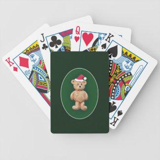 Santa Hat Bicycle Playing Cards