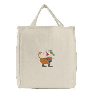 Santa Hat Cat Canvas Bags