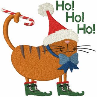 Santa Hat Cat Embroidered Shirts