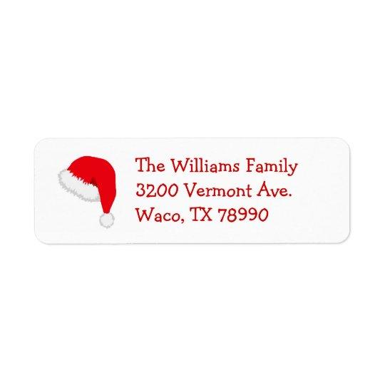 Santa Hat Christmas Address Label