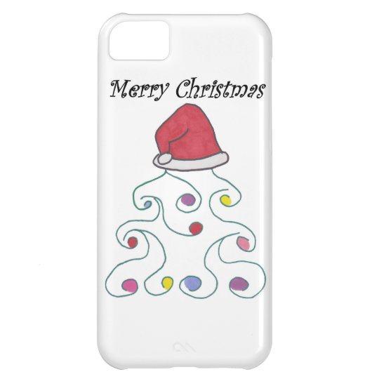 Santa Hat Christmas Tree iPhone 5C Case