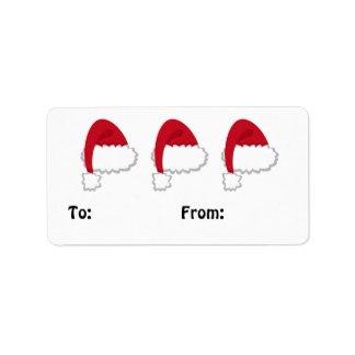 Santa Hat Gift Tag Labels #HolidayZ