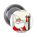 Santa Hat Hair Pinback Buttons