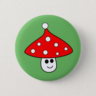 Santa Hat Mushroom Button